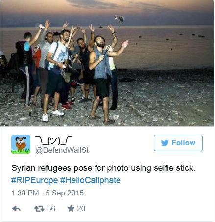 selfie refugees