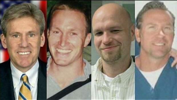 Ambassador Chris Stevens, Tyrone Woods, Glenn Doherty, and Sean Smith