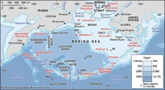 Kuril Islands and the Bering Strait