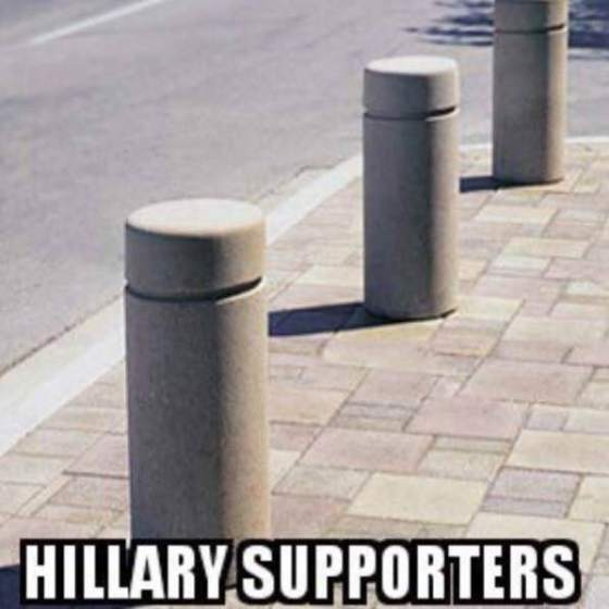 hillary-supporters-pylons